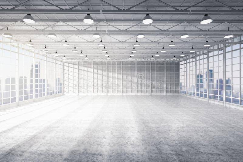 Внутренняя пустая фабрика стоковое изображение rf