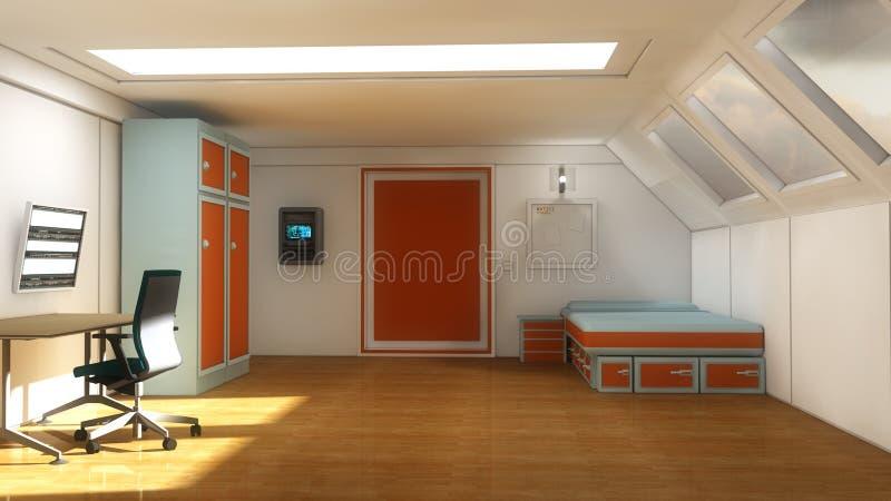 Внутренняя современная комната молодости иллюстрация штока
