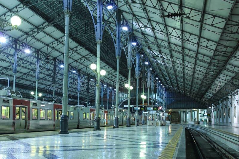Внутренняя станция Rossio. Лиссабон. Португалия стоковые изображения rf