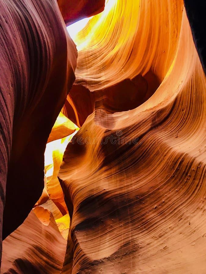 Внутренняя съемка более низкого каньона антилопы стоковое фото rf