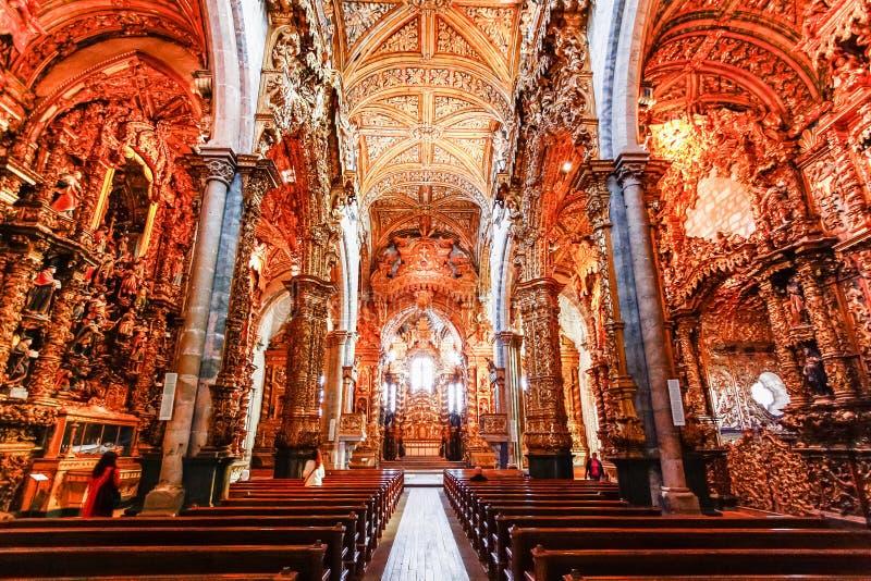 Внутренняя церковь Carmelitas и стоковые изображения