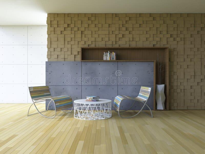 внутренн-живя комната 3Ds бесплатная иллюстрация