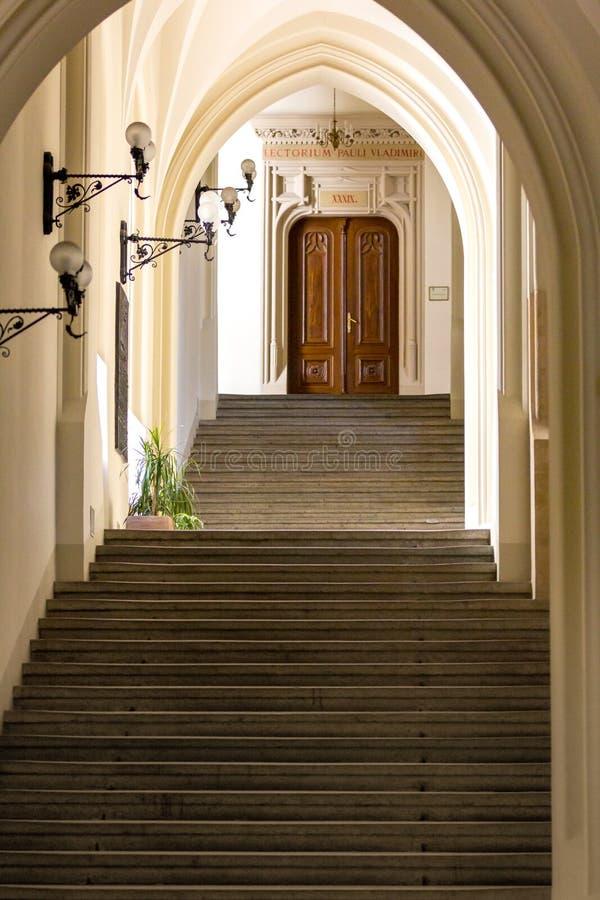 Внутренн-коллегия Novum- Cracow университета Jagiellonian, Польша стоковая фотография rf