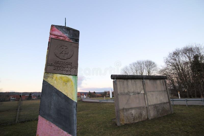 Внутренн-немецкая граница стоковое изображение