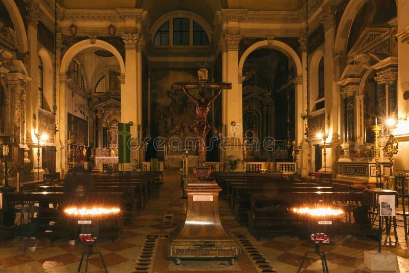 Внутренн Chiesa di S Moise в Венеции стоковое фото rf