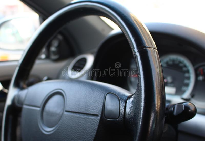Внутри автомобиль стоковое фото