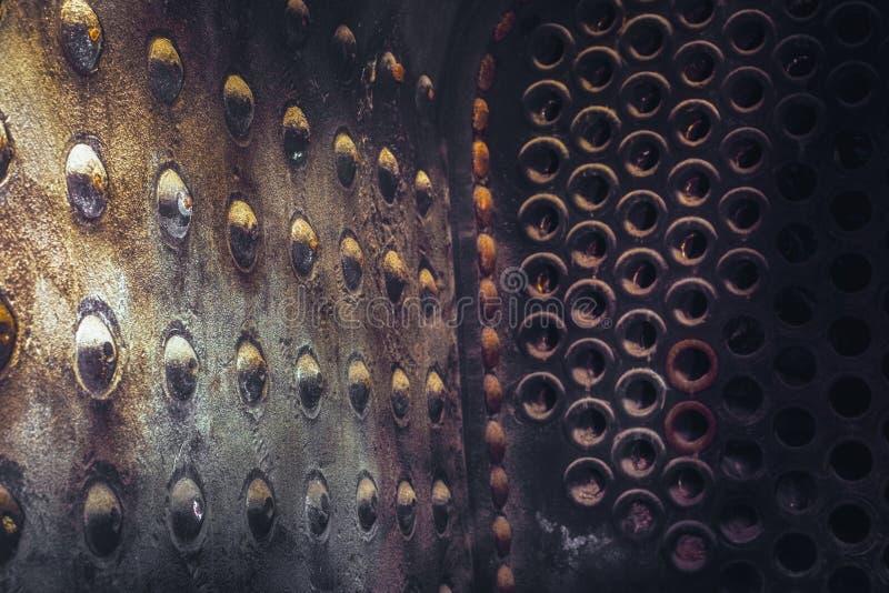 Внутри боилера локомотива пара стоковое изображение rf
