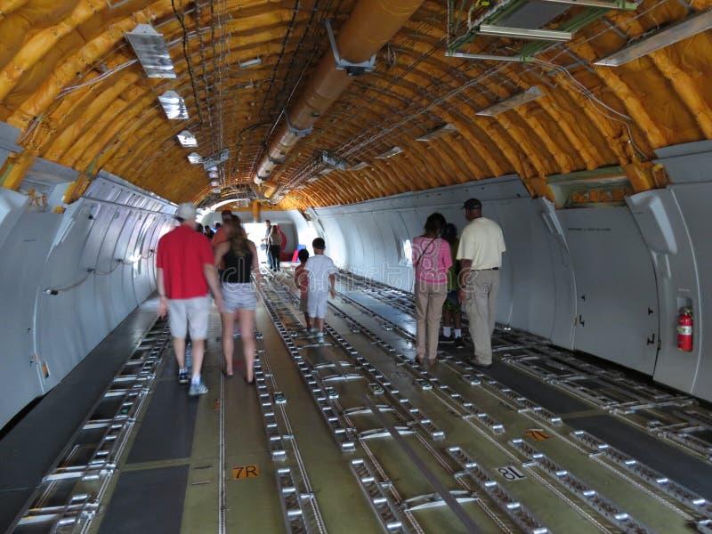 Внутри воздушных судн топливозаправщика стоковые изображения rf