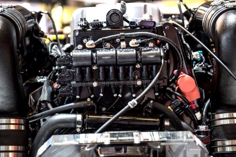 Внутри забортного двигателя стоковые фотографии rf