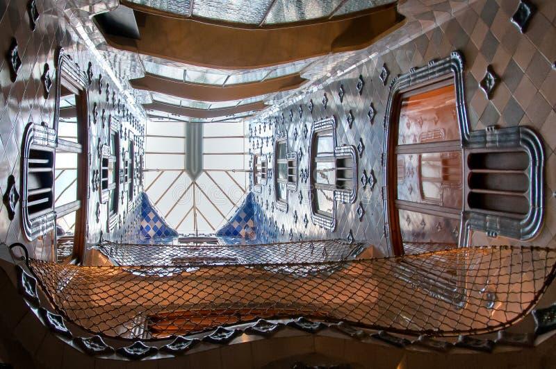 Внутри Касы Batllo стоковое изображение rf