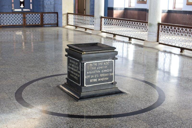 Внутри мемориала Махатма Ганди, Kanyakumari стоковое изображение rf