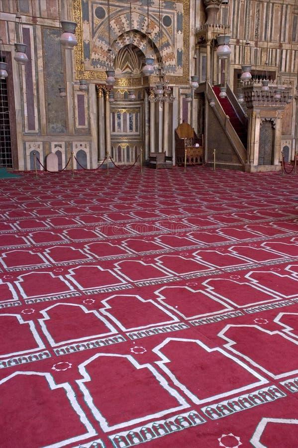 внутри места вероисповедания мечети мусульманства исламского стоковое фото rf