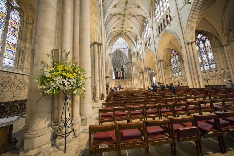 Внутри монастырской церкви Йорка стоковые изображения