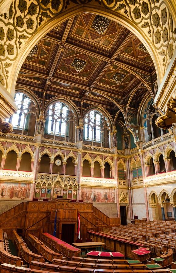 Внутри парламента Венгрии, Будапешт стоковая фотография rf