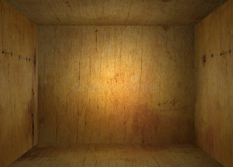 Внутри старой деревянной коробки стоковые изображения rf