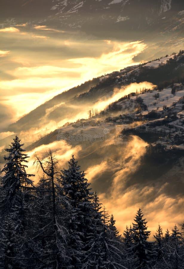Внутри тумана стоковое изображение