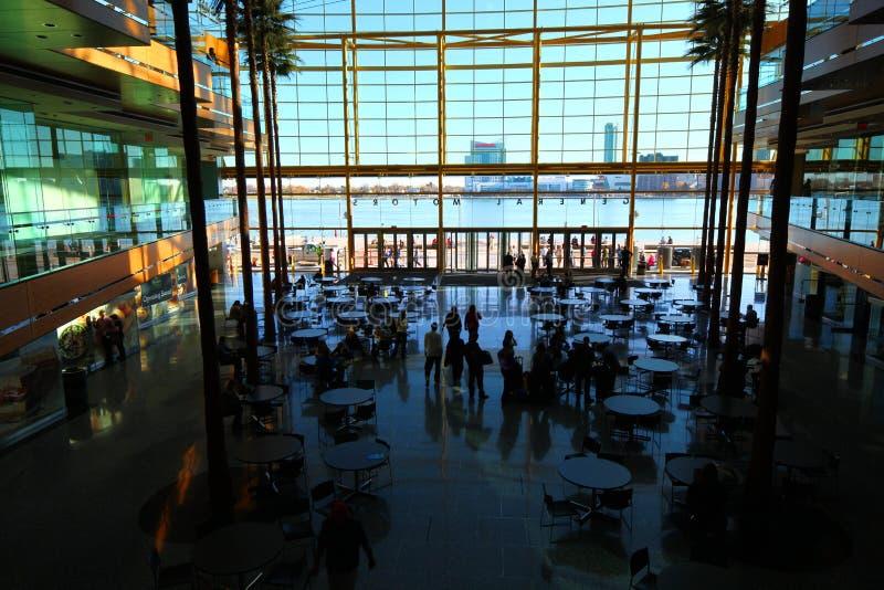 Внутри центра ренессанса в Детройте стоковое изображение rf