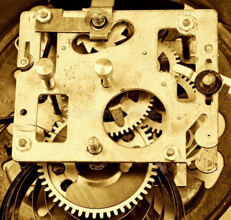 Внутри часов (clockworks) стоковое фото