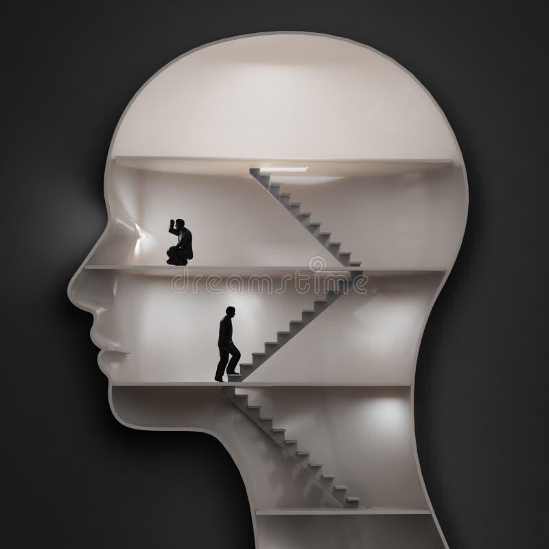 Внутри человеческого мозга иллюстрация штока