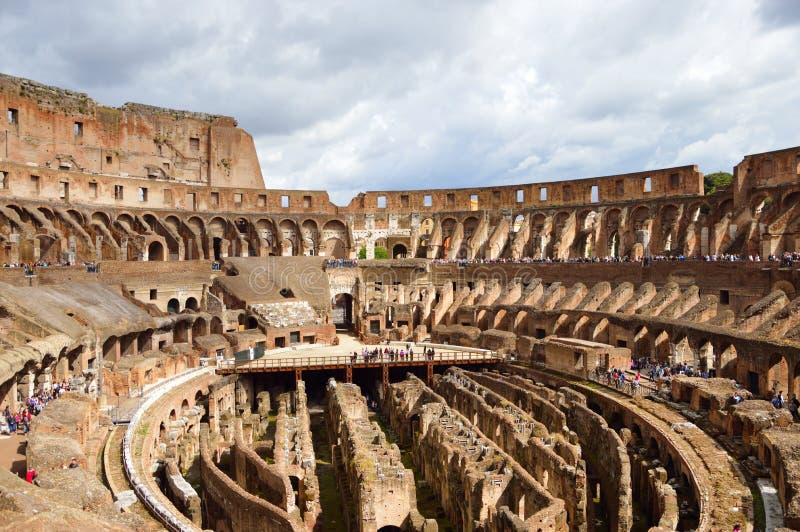Внутри Colosseum, Рим, Италия стоковое фото rf