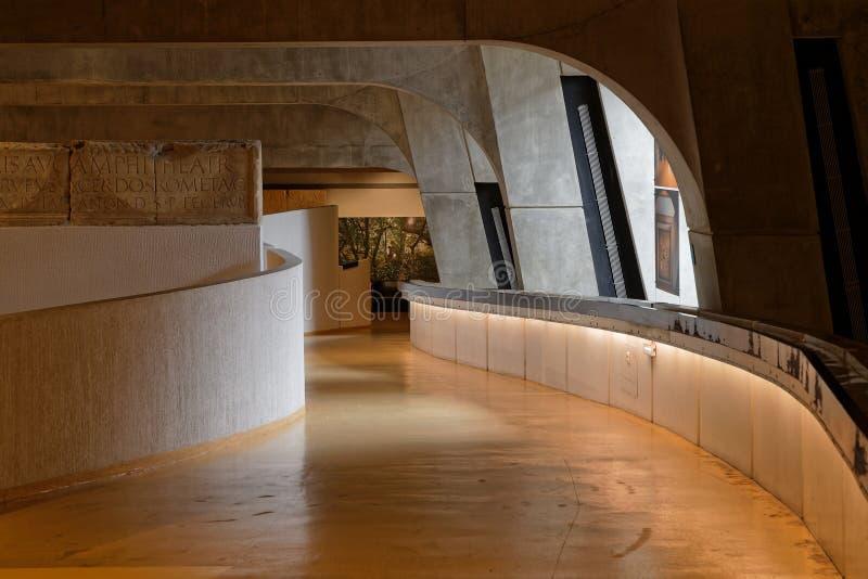 Внутри Lugdunum, римский музей Лиона стоковые фотографии rf