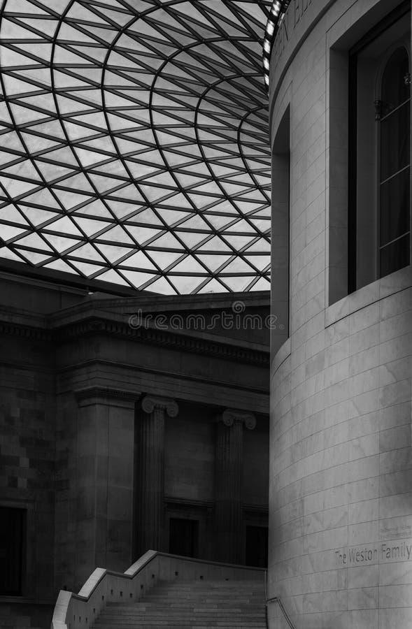 Внутрь великобританского музея стоковые фото
