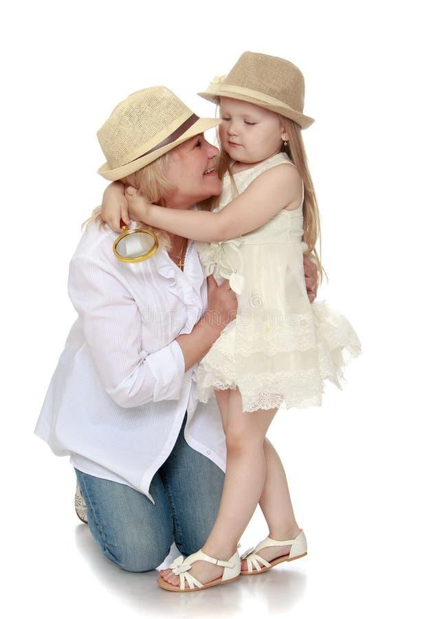 Внучка с бабушкой стоковая фотография rf