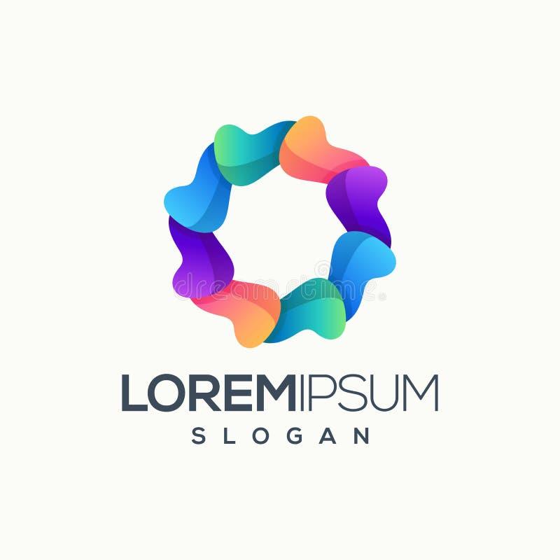 Внушительная абстрактная иллюстрация вектора дизайна логотипа круга  иллюстрация штока