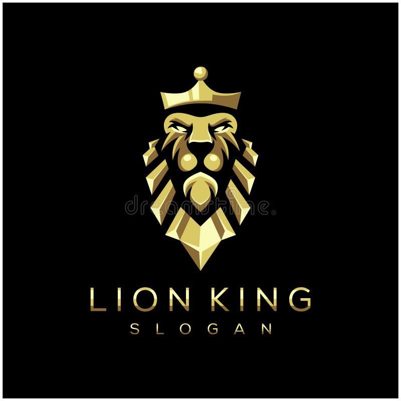Внушительная иллюстрация вектора логотипа короля льва бесплатная иллюстрация