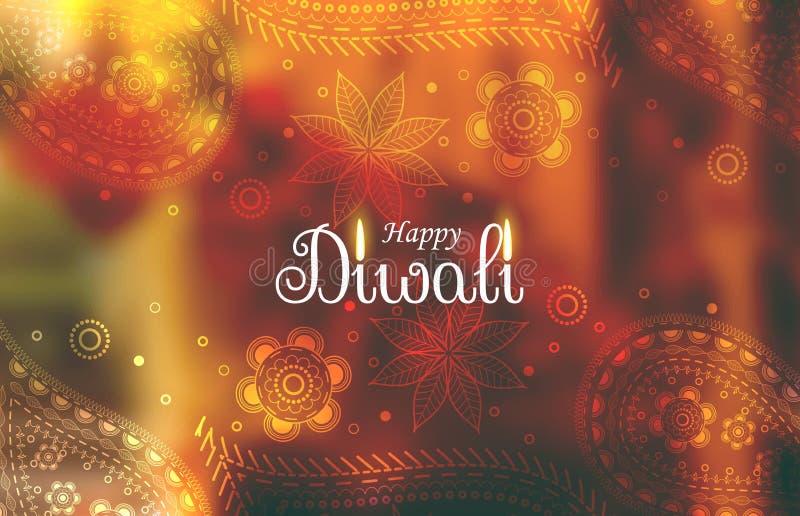 Внушительная предпосылка обоев diwali с картиной Пейсли иллюстрация штока