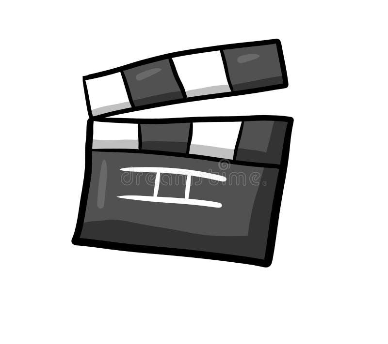 Внушительное кино Clapperboard иллюстрация штока