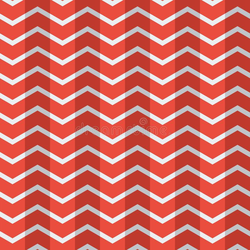 Внушительные безшовные плоские полигоны делают по образцу красные белые обои вектора цвета бесплатная иллюстрация