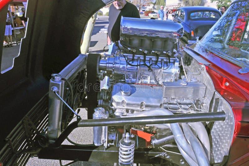 Внушительные Supercharged 427 c I Двигатель V-8 стоковые фото