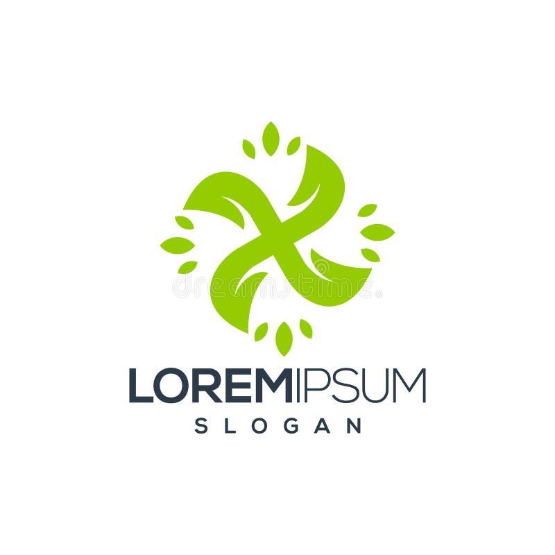 Внушительный абстрактный дизайн логотипа лист, вектор, иллюстрация иллюстрация штока