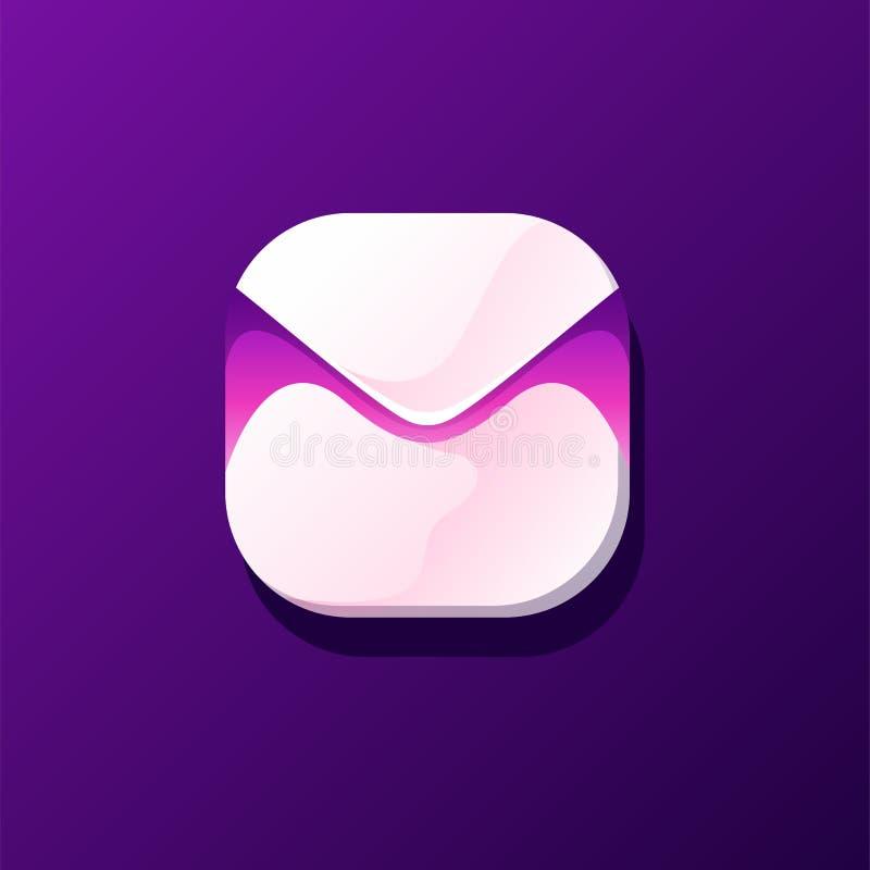 Внушительный дизайн значка почты готовый для использования иллюстрация вектора