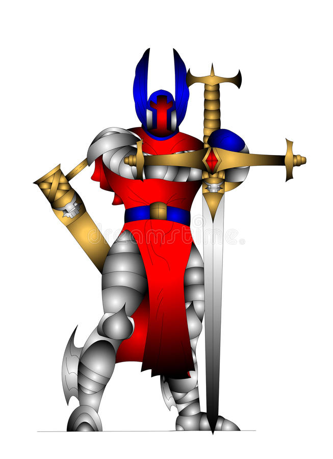 внушительный рыцарь иллюстрация вектора