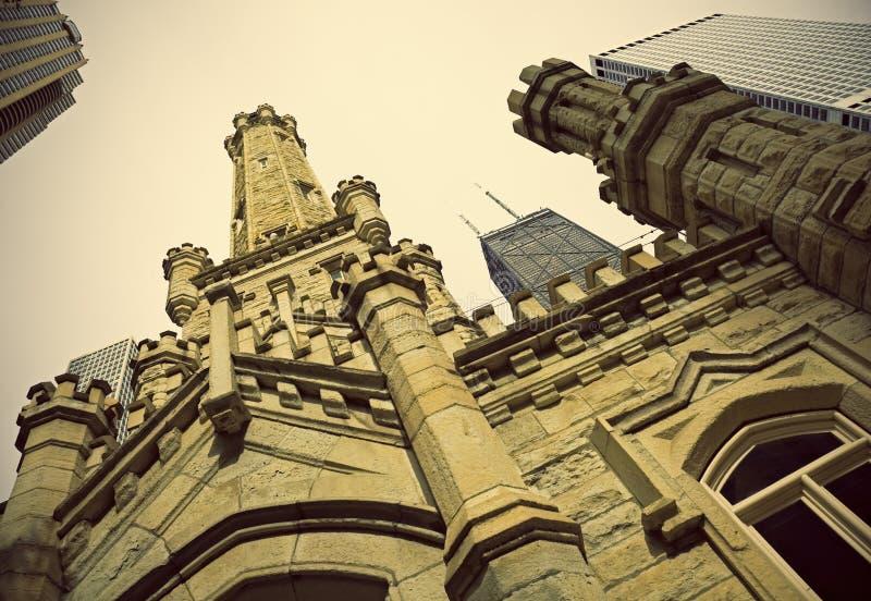 вода башни chicago историческая стоковые фото