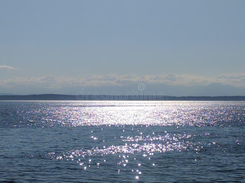 вода взгляда неба океана облака стоковое изображение