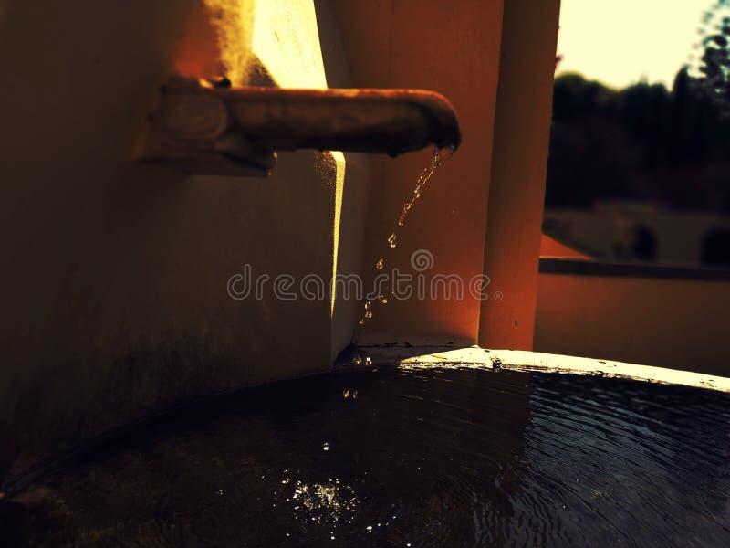Вода в светах стоковое изображение