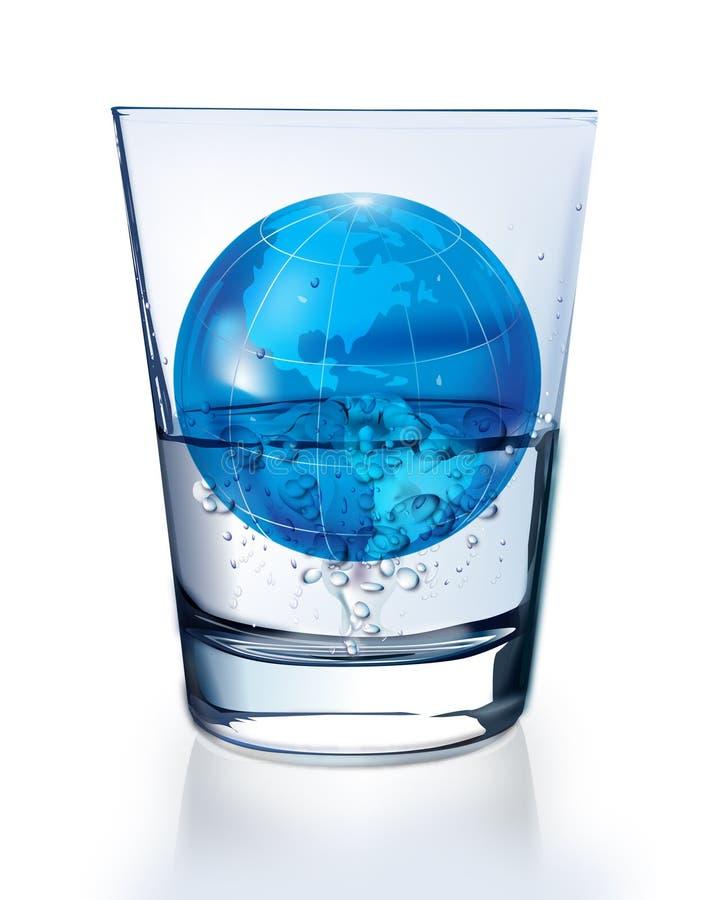 вода глобуса иллюстрация вектора