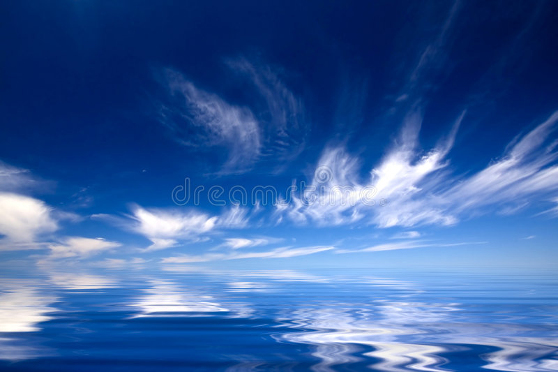вода голубого неба стоковое фото