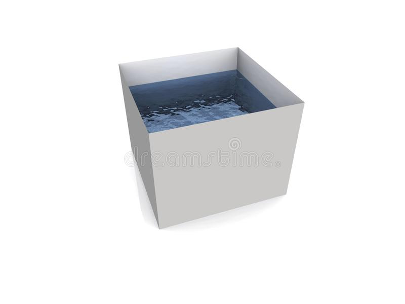 вода заполненная контейнером бесплатная иллюстрация