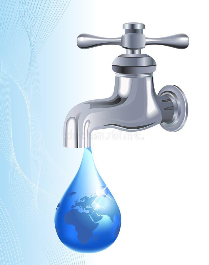 вода из крана иллюстрация штока