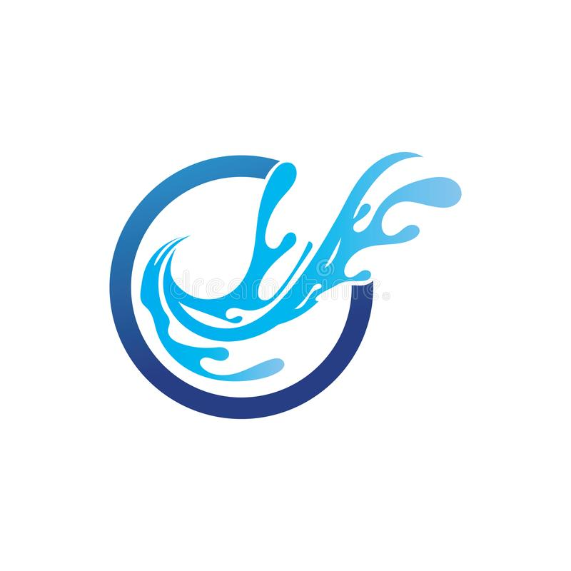 вода и волны приставают приложение к берегу значков шаблона логотипа и символов бесплатная иллюстрация