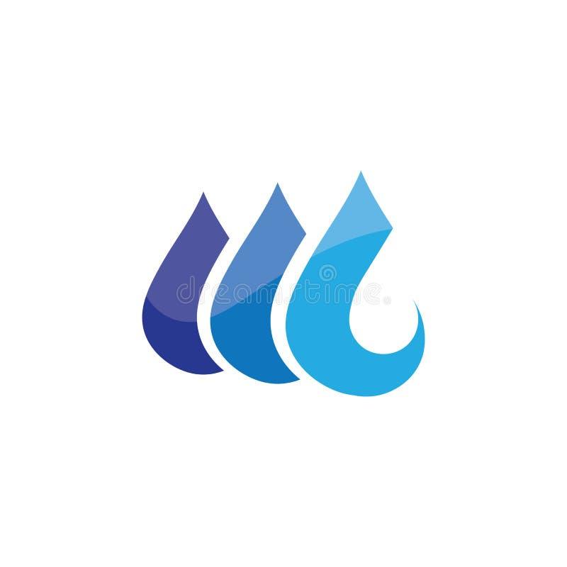 вода и волны приставают приложение к берегу значков шаблона логотипа и символов иллюстрация вектора