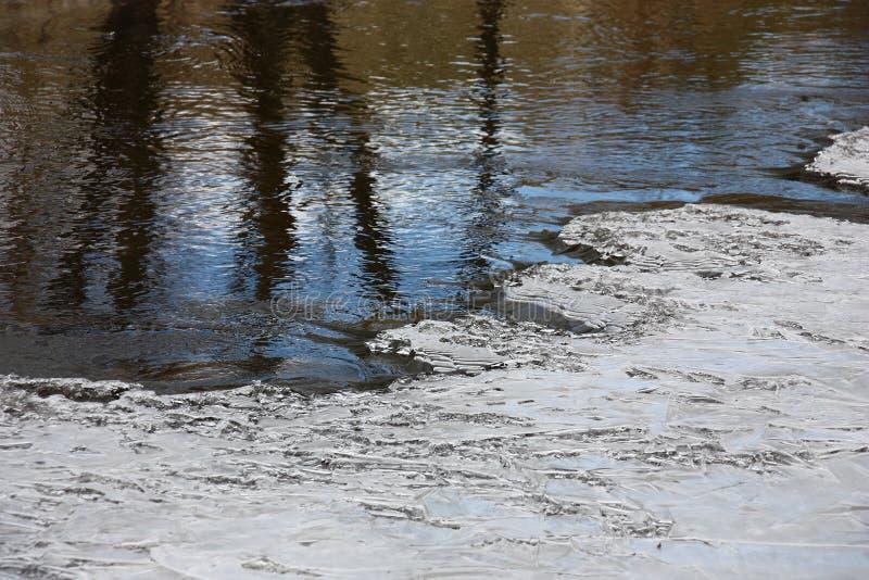 Вода и льдед стоковые изображения rf
