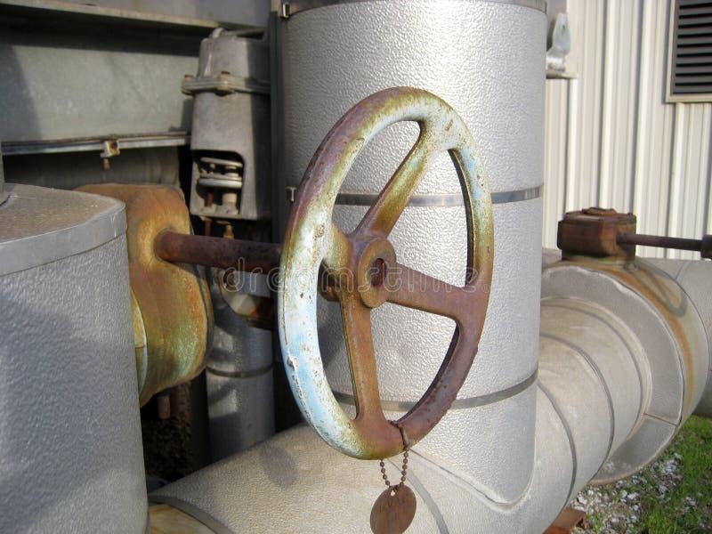 вода клапана подачи управления стоковая фотография rf