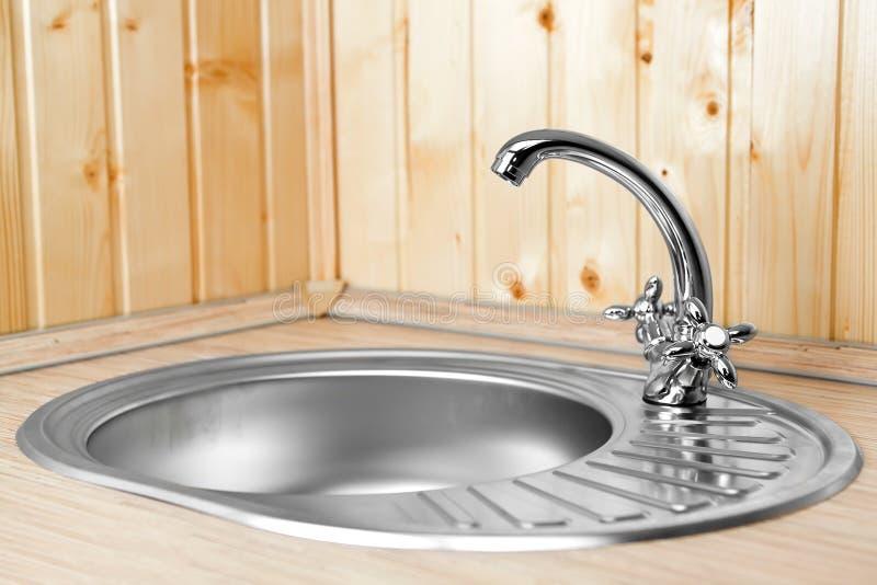 вода кухни крана новая стоковые фотографии rf