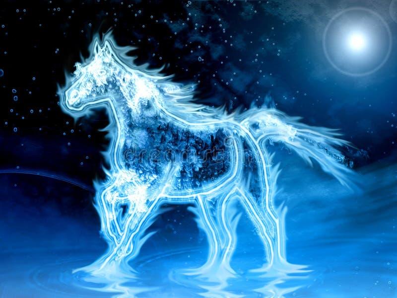 вода лошади иллюстрация штока