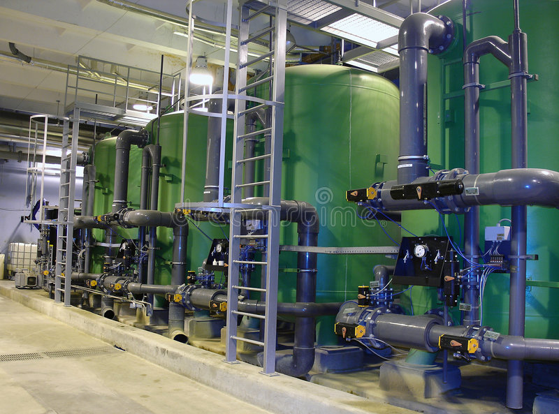 вода обработки стоковое изображение rf